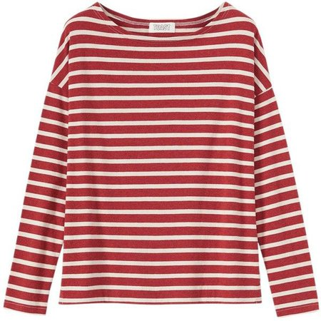 red/white candy cane striped t-shirt