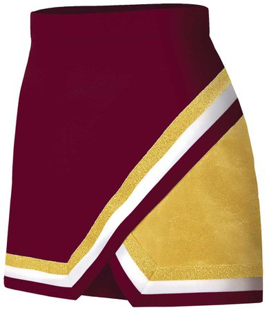 maroon cheer skirt