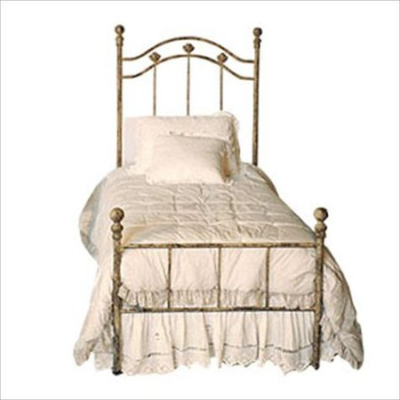 vintage French bed filler png gold white