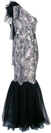 Tash one-shoulder gown