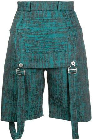 Thebe Magugu Dungaree Shorts