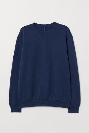 Sweatshirt - Dark blue - Men | H&M US