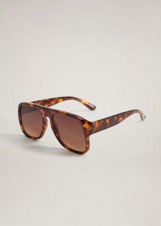Tortoiseshell retro sunglasses - Women | Mango USA brown