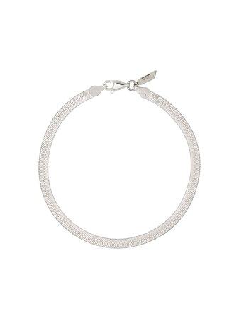 Loren Stewart sterling silver Herringbone bracelet - FARFETCH