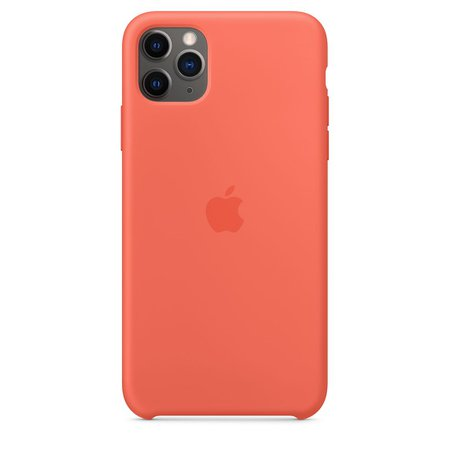 iPhone 11 Pro Max Silicone Case - Clementine - Apple