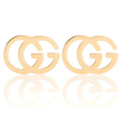 Gg 18Kt Gold Stud Earrings | Gucci - Mytheresa