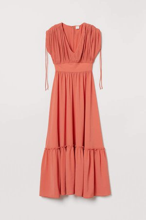 Creped Dress - Orange