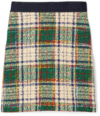 Tartan Tweed Skirt