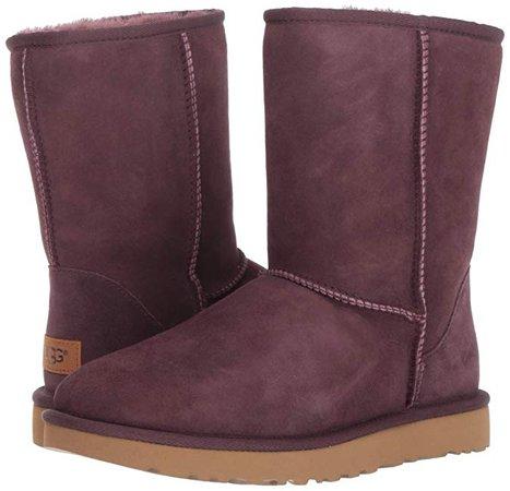 Amazon.com | UGG Women's W Classic Short II Fashion Boot, port, 8 M US | Snow Boots