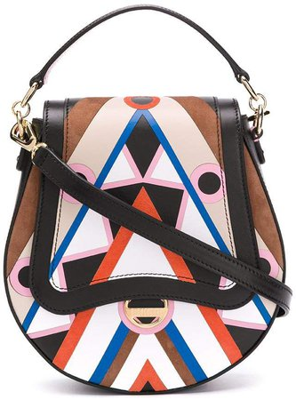 abstract-print crossbody bag