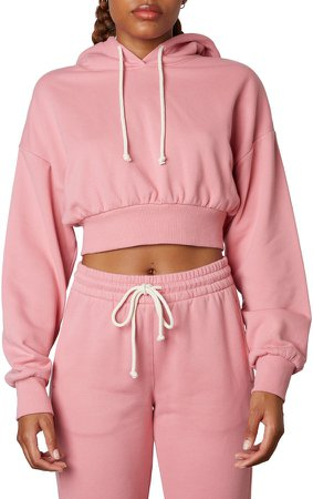 Bowery Crop Cotton Blend Hoodie