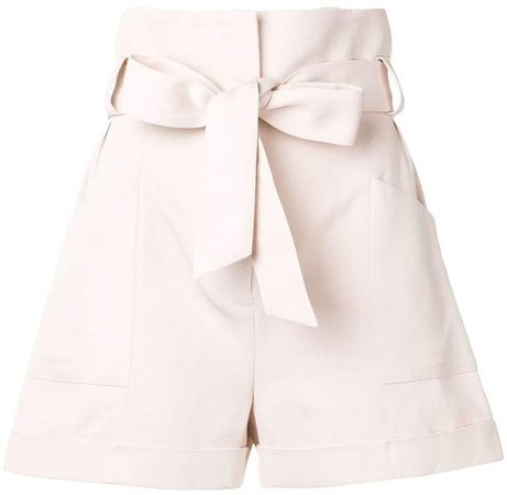 Piralin tie waist shorts