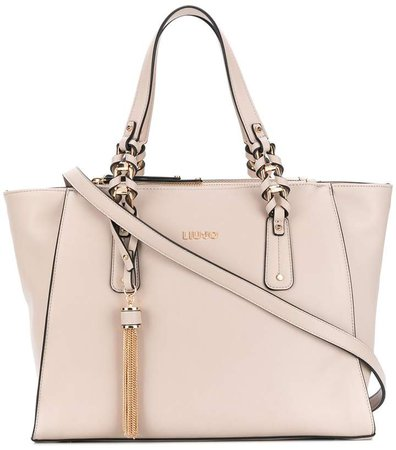 Tassel-Detail Tote Bag