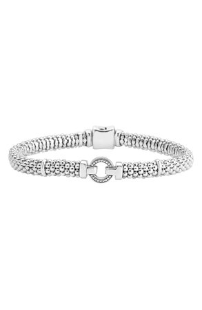 LAGOS Enso Boxed Circle Station Caviar Rope Bracelet | Nordstrom