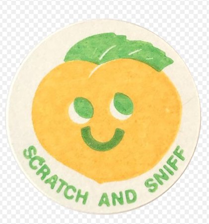 scratch and sniff sticker