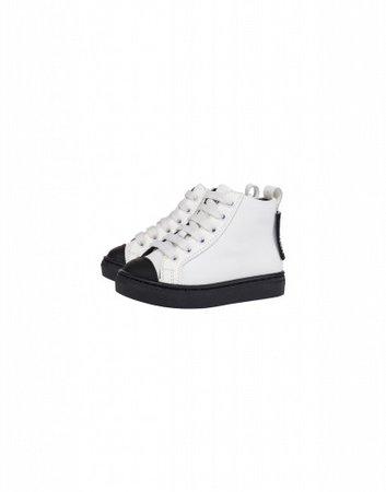 Calfskin High Sneakers Label