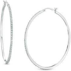 silver hoop earrings - Google Search