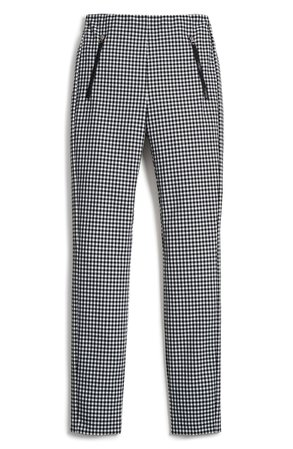 rag & bone Simone Gingham Slim Crop Pants | Nordstrom