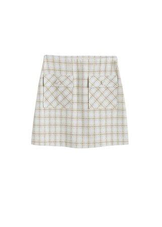 MANGO Check miniskirt