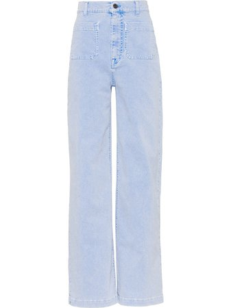 Miu Miu wide-leg high-waisted Jeans