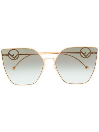 Fendi Eyewear Oversized cat-eye Sunglasses - Farfetch