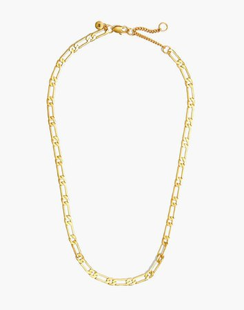 Flat Linked Chain Necklace