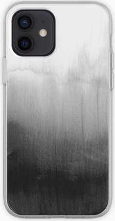 white to black ombré phone case