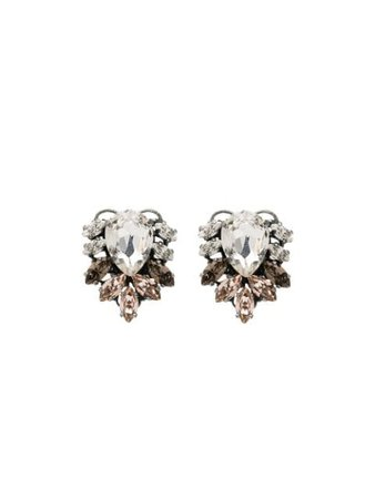 Anton Heunis Silver-Tone Crystal Earrings GGM304 | Farfetch