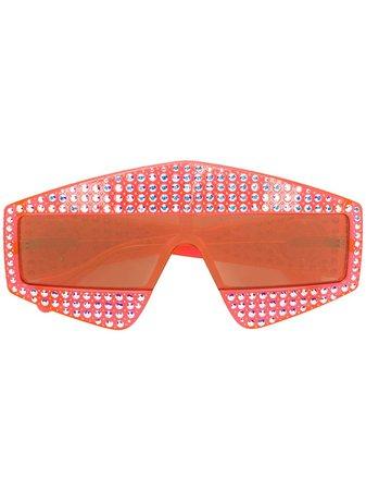 Gucci Eyewear oversize-glasögon Med Kristaller - Farfetch