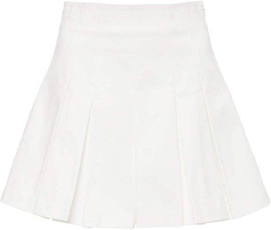 AMUR Apollo High-Waisted Pleated Cotton Shorts Size: 00
