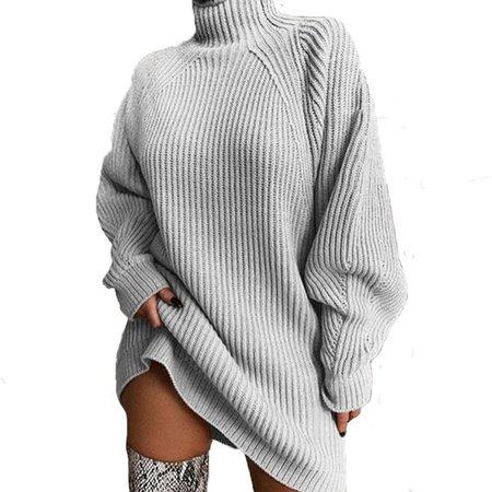 Sweater Mini Dress Grey