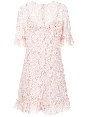 Dolce & Gabbana Floral Lace Mini Dress - Farfetch