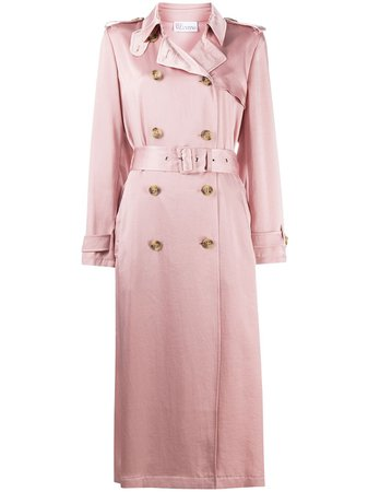 RedValentino Satin Trench Coat - Farfetch