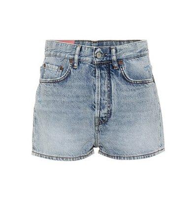 Blå Konst Swamp denim shorts