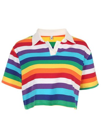 rainbow cropped top