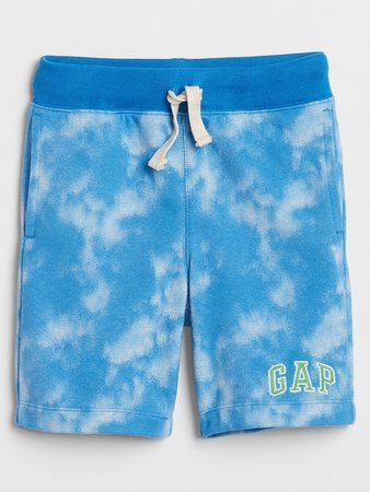 Kids Tie-Dye Gap Logo Shorts in French Terry | Gap Factory