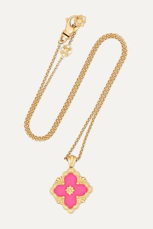 Gold 18-karat yellow gold and enamel necklace   Buccellati   NET-A-PORTER