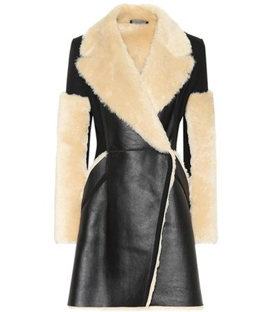 Leather and shearling coat