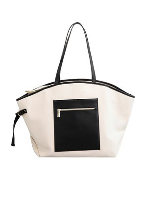 BEIS Canvas Tote in Beige   REVOLVE