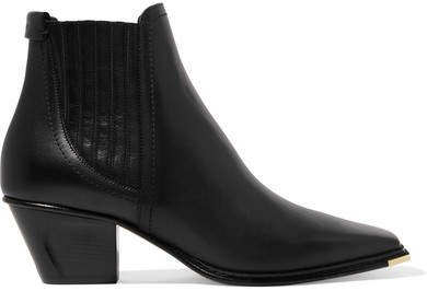 Mitzi 60 Leather Ankle Boots - Black