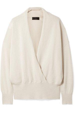 Nili Lotan | Lakota wrap-effect cashmere sweater | NET-A-PORTER.COM