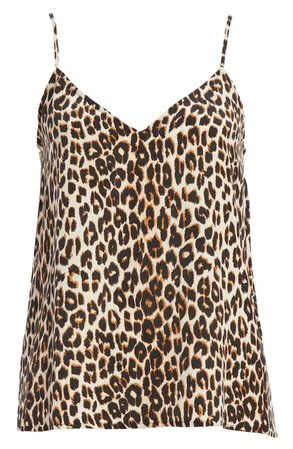 Equipment Layla Leopard Print Silk Camisole | Nordstrom