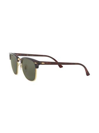 Ray-Ban Clubmaster square-frame Sunglasses - Farfetch