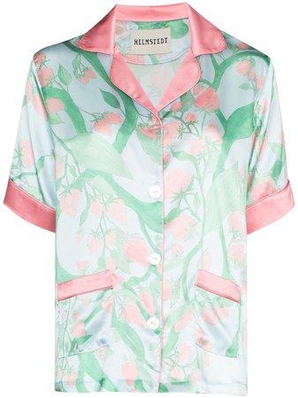 Helmstedt Strawberry Print Silk Pajama Shirt - Farfetch