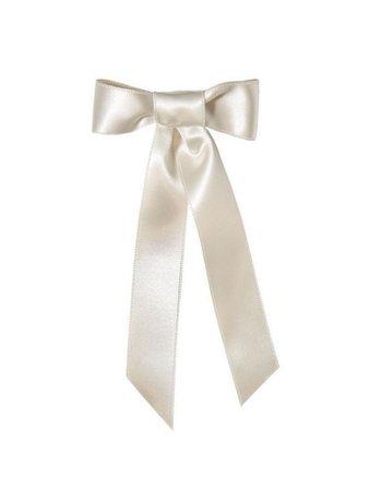 White hair ribbon