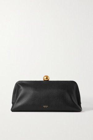 Nova Leather Clutch - Black