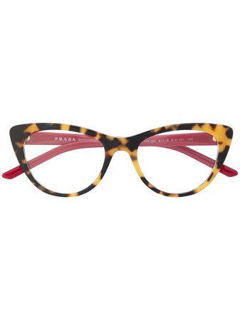 Prada Eyewear Cat-Eye Frame Glasses Continuity | Farfetch.Com