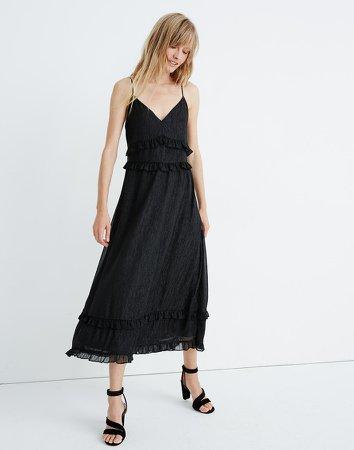 Shimmer Ruffle Cami Dress