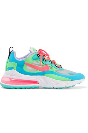 Nike | Air Max 270 React felt and ripstop sneakers | NET-A-PORTER.COM
