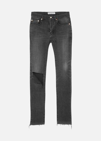 Distressed High-rise Skinny Jeans - Charcoal